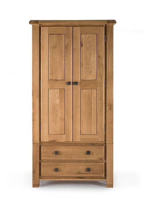 York Wardrobe - 2 Door 2 Drawer