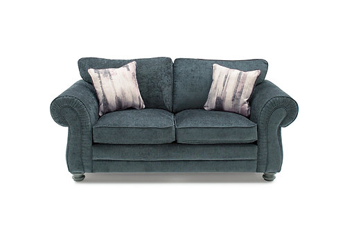 Hollins 2 Seater Fixed - Charcoal (2 scatter cushions)