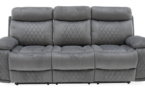 Eason 3 Seater Reclining with Tray - Grey