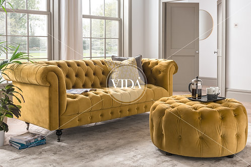 Darby 3 Seater - Mustard