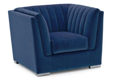 Upton Armchair 1 Seater Fixed - Blue