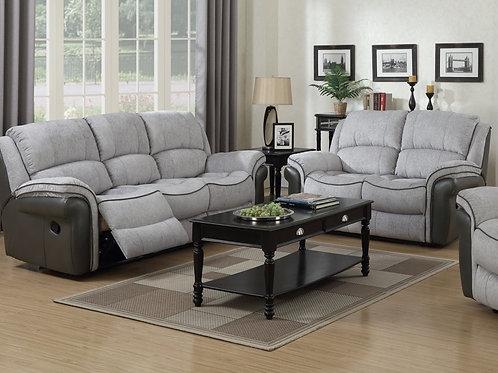 Hampton Fusion Grey & Grey 3 Seater