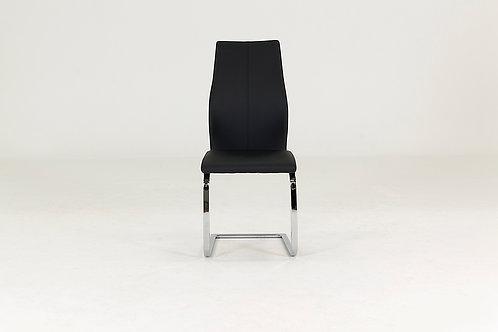 Elis Dining Chair - Chrome Leg Black