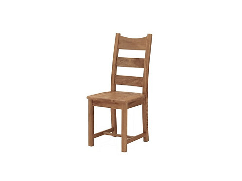 Colorado Oak Solid Seat Dining Chair