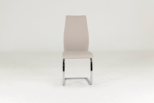 Elis Dining Chair - Chrome Leg Taupe