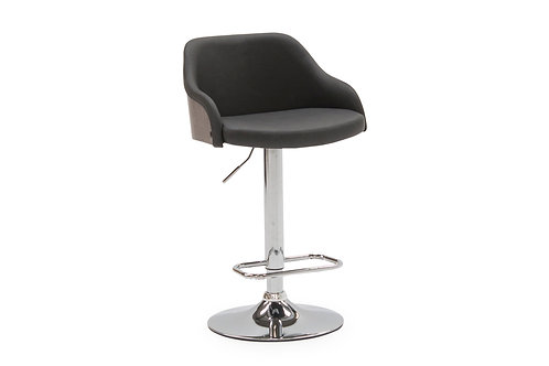 Fossil Bar Chair, Gas Lift - Charcoal PU
