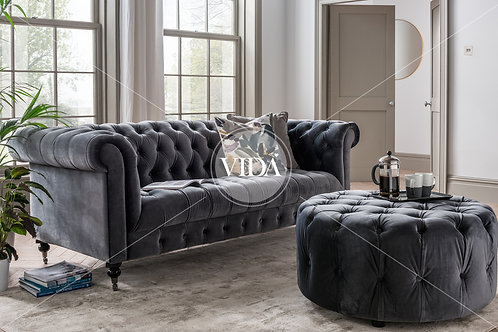 Darby 2 Seater - Grey