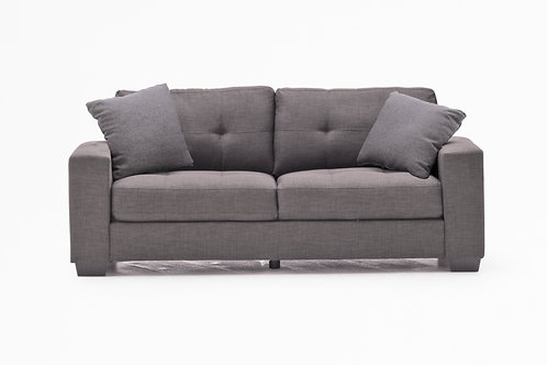 Vivaldi 3 Seater - Charcoal (2 scatter cushions)