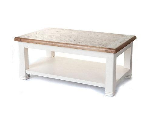 Colorado Oak White Rectangular Coffee Table