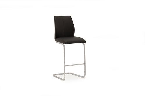 Elis Bar Chair - Chrome Leg Black
