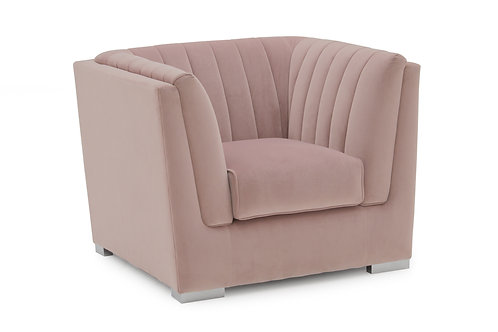 Upton Armchair 1 Seater Fixed - Blush