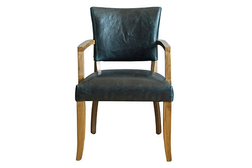 Duke Arm Chair Leather - Ink Blue