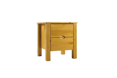 Canadian Pine 2 Drawer Night Stand