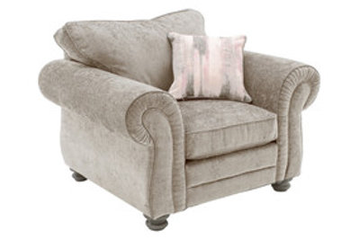 Hollins 1 Seater Fixed - Mink (1 scatter cushion)