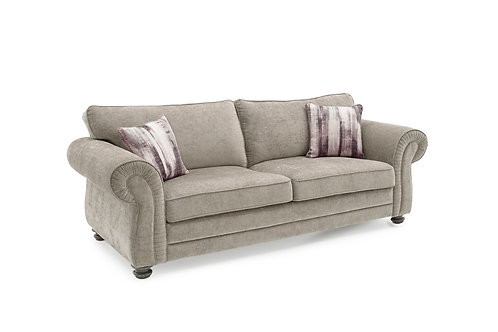 Hollins 3 Seater Fixed - Mink (2 scatter cushions)