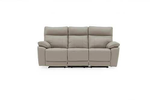 Positano 3 Seater Recliner - Light Grey