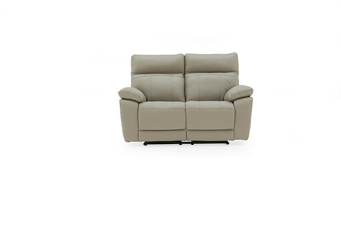 Positano 2 Seater Recliner - Light Grey