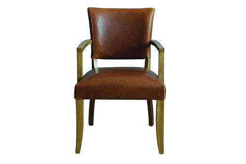 Duke Arm Chair Leather - Tan Brown