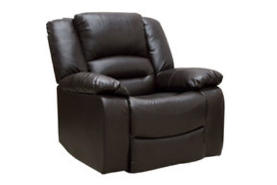 Barletto 1 Seater Recliner - Brown