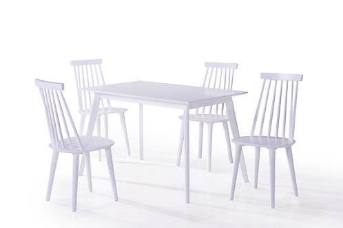 Isla Dining Table  - White 1200