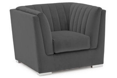 Upton Armchair 1 Seater Fixed - Charcoal