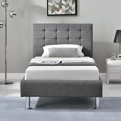 Lyra Fabric Bed - 3' - Charcoal
