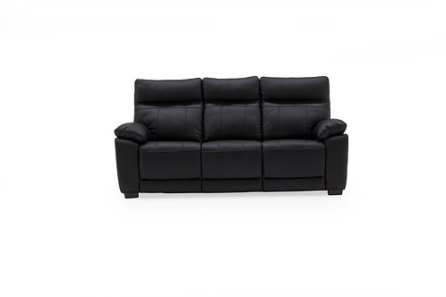 Positano 3 Seater Fixed - Black