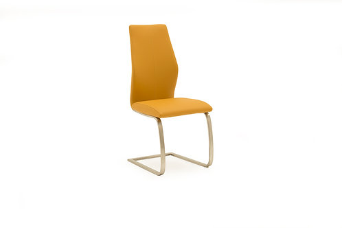 Irma Dining Chair - Brushed Steel Pumpkin