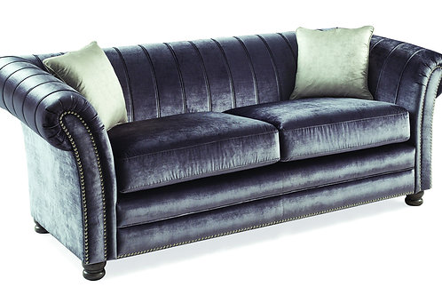 Giselle 3 Seater - Charcoal - 2 Scatters