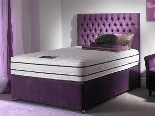 Hercules Purple Ottoman Divan & Headboard