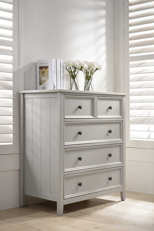 Mila Tall Chest - 3+2 Drawer Taupe