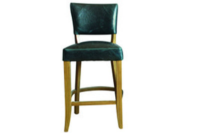 Duke Bar Chair Leather - Ink Blue