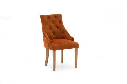 Hobbs Dining Chair - Velvet Pumpkin