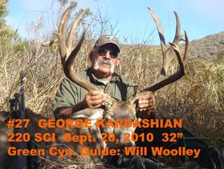 #27 GEORGE KARDASHIAN  Top 100 Santa Rosa Island Mule Deer Bucks