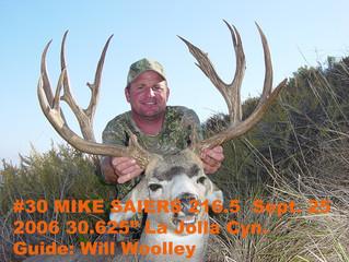 # 30 Mike Saiers Top 100 Santa Rosa Island Mule Deer Bucks