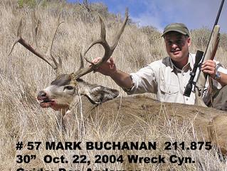 #57 MARK BUCHANAN Top 100 Santa Rosa Island Mule Deer Bucks