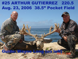 #25 ARTHUR GUTIERREZ Top 100 Santa Rosa Island Mule Deer Bucks