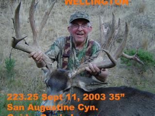 # 15 BOB WELLINGTON Top 100 Santa Rosa Island Mule Deer Bucks