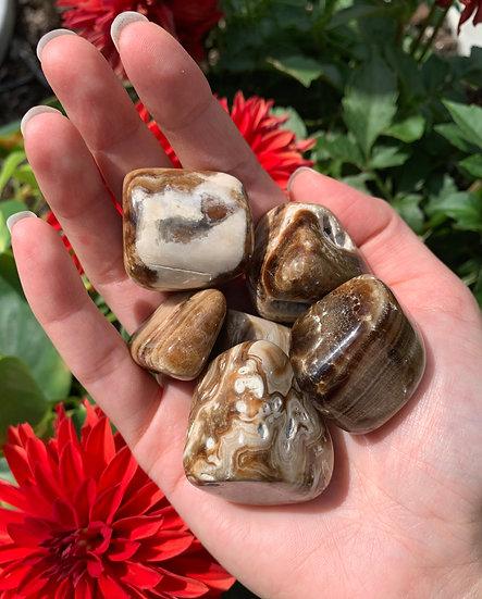 Chocolate Calcite Tumbled Stones