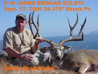 #16 JAMES BROGAN Top 100 Santa Rosa Island Mule Deer Bucks