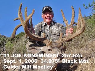 #1 JOE KONSWINSKI Top 100 Santa Rosa Island Mule Deer Bucks