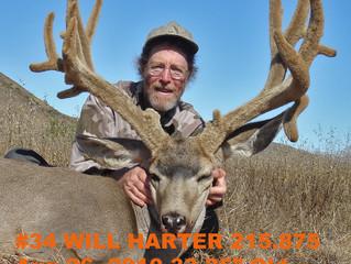 #34 WILL HARTER Top 100 Santa Rosa Island Mule Deer Bucks