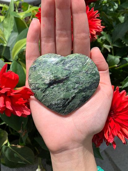 Serpentine Heart Carvings