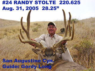 #24 RANDY STOLTE Top 100 Santa Rosa Island Mule Deer Bucks
