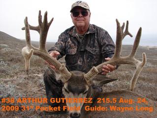 #38 ARTHUR GUTIERREZ Top 100 Santa Rosa Island Mule Deer Bucks