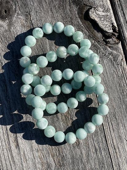 AAA 10mm Green Angelite Bracelets