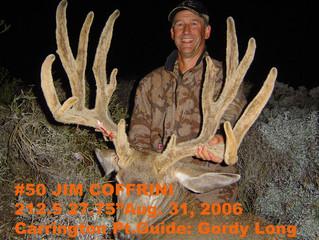 #50 JIM COFFRINI Top 100 Santa Rosa Island Mule Deer Bucks
