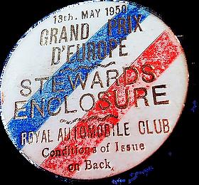 1950 - British GP - pin steward - GP Eur