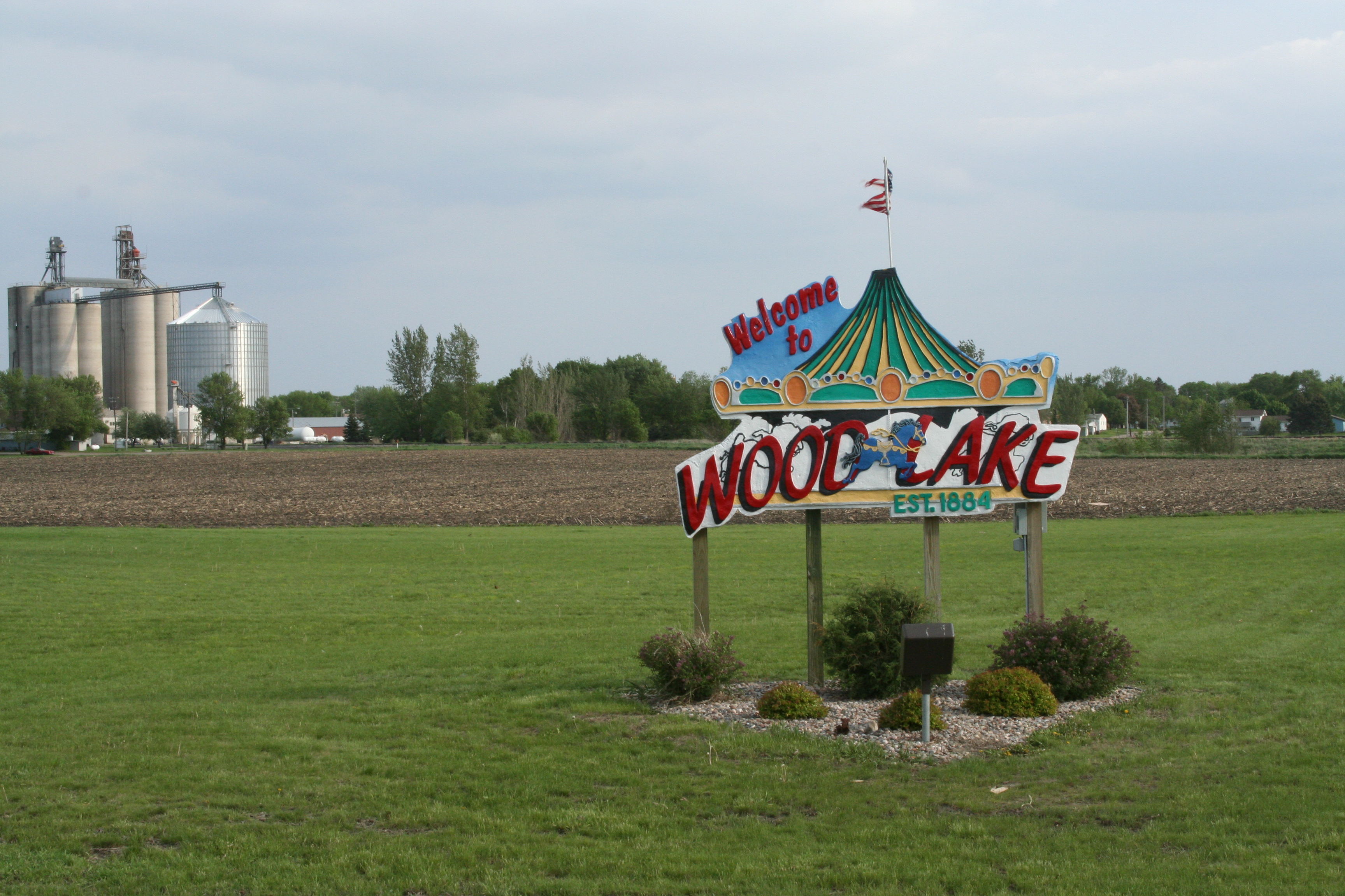Wood Lake City Sign