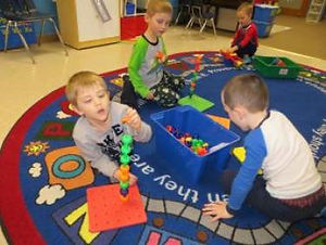 Children plan and learn at St. John's Preschool in Wood Lake Minnesota